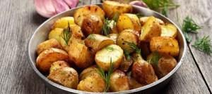 Πατάτες στο φούρνο με πορτοκάλι