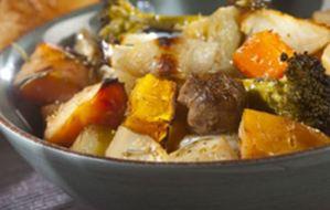 Χειμωνιάτικο τουρλού. Μixed λαχανικά στο φούρνο