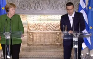 Read more about the article Η Μέρκελ «άδειασε» τον Μητσοτάκη για τα περί συναλλαγής για τα Σκόπια – Εύσημα στον Τσίπρα