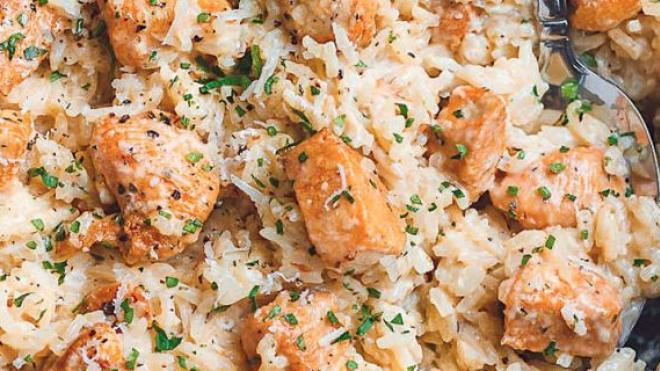 Κοτόπουλο πιλάφι στον φούρνο
