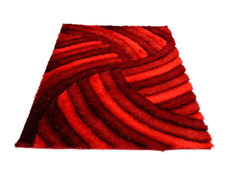 tapis 160x230 cm domi coloris rouge