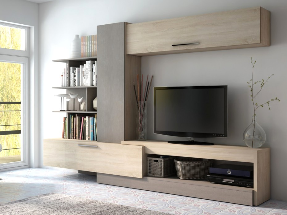 meubles tv avec rangement gris achat