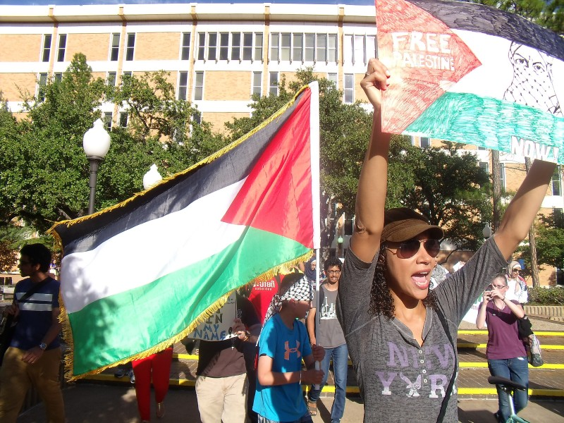 Palestine solidarity march in Arlington, TX.