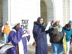 Welfare Rights Committee rallies at state capitol