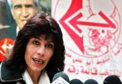 Khalida Jarrar, member of the Political Bureau of the PFLP.