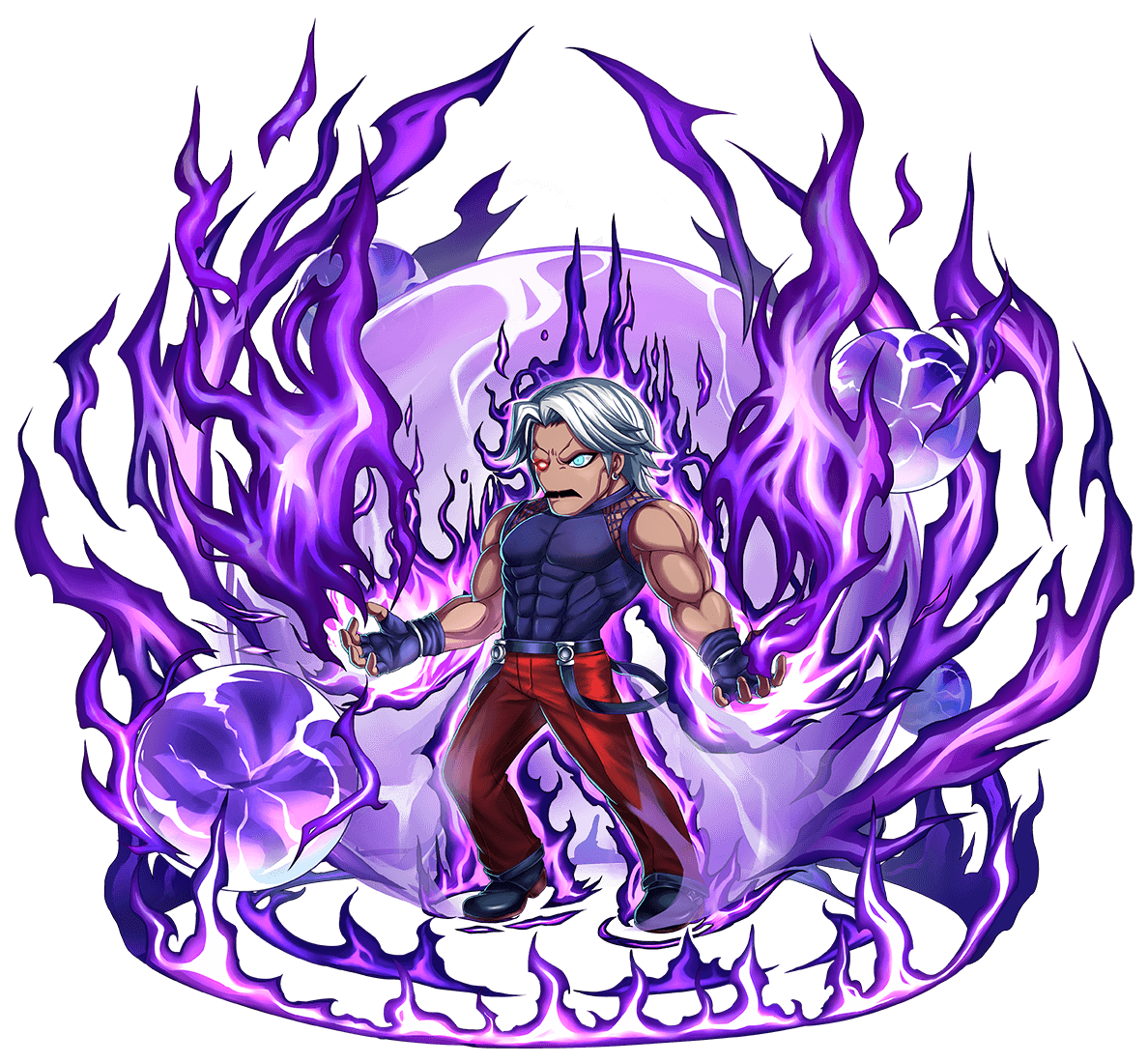King Of Fighters Crossover With Brave Frontier Artwork