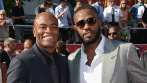 UFC middleweight Anderson Silva and UFC champion Jon Jones