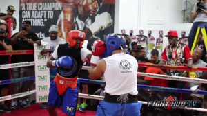 mayweather sparring