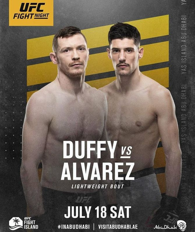 Joel Alvarez vs Joseph Duffy en UFC Fight Island