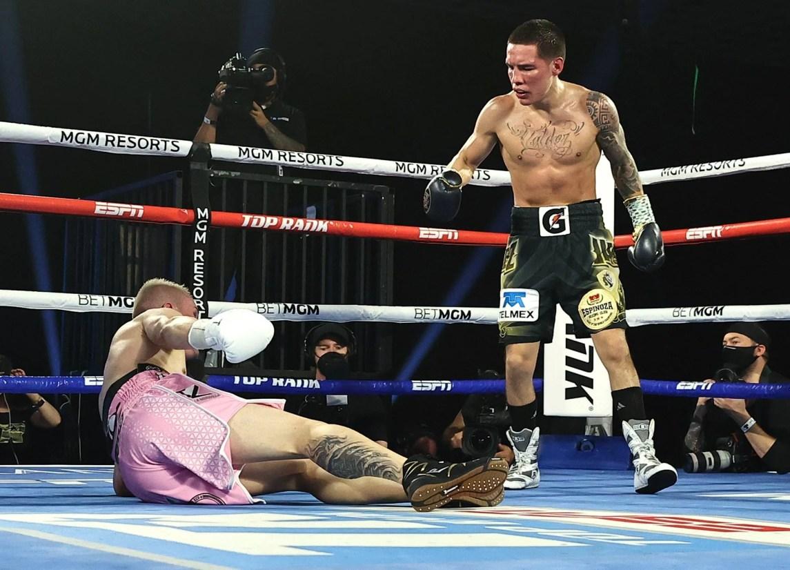 Oscar Valdez Dusts Off Ring Rust, Beats Jayson Velez Via Tko | Berchelt Vs Valdez