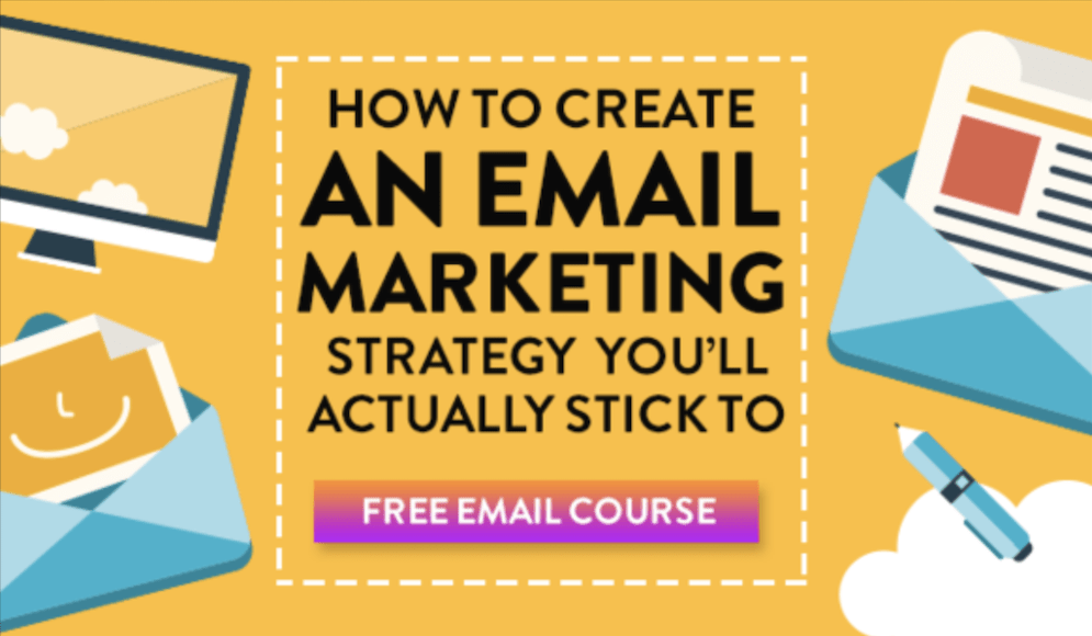 Email lists for newbies course banner