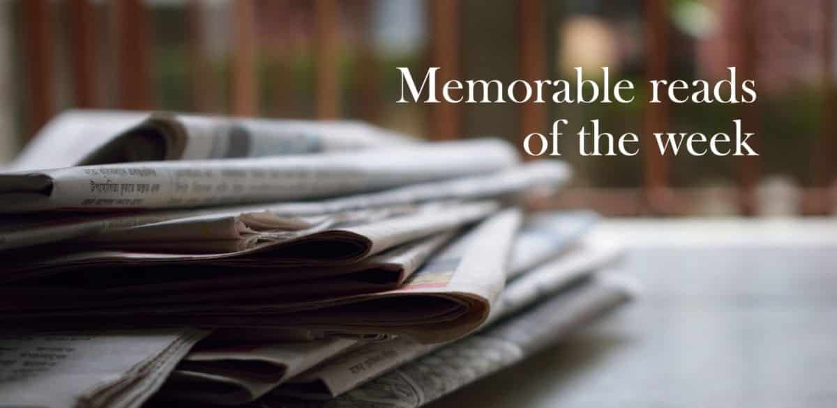 Memorable Reads Of The Week 3