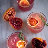 Blood Orange and Rosemary Gin and Tonics