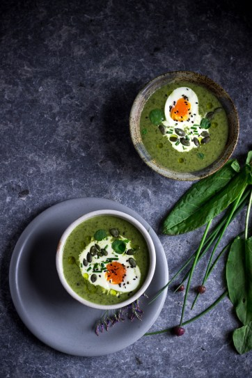 Watercress and sorrel soup