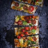 Heirloom Tomato Spelt Pizza