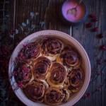 Cranberry and pecan cinnamon buns