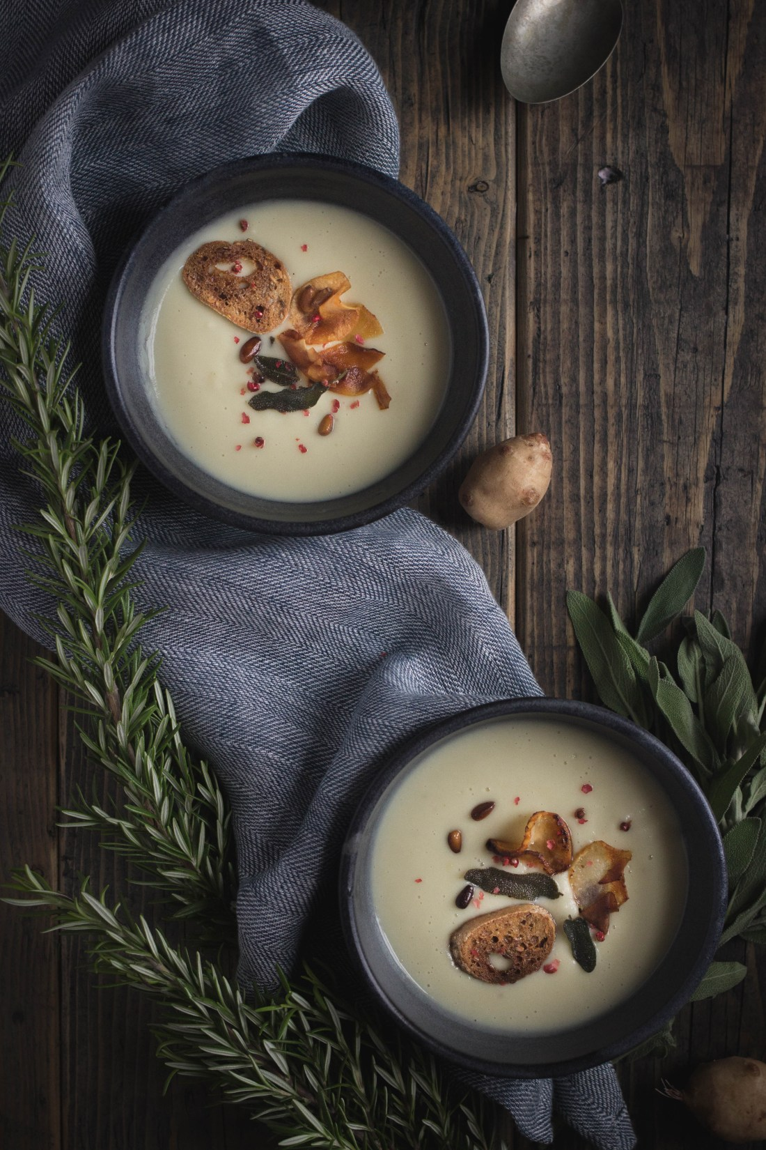 Jerusalem Artichoke Soup Figs Pigs