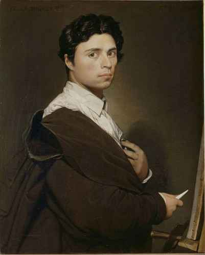 """""""Selbstporträt"""" von Jean-Auguste-Dominique Ingres - 1804"""
