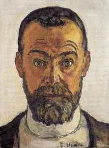 Selbstbildnis mit aufgerissenen Augen Ferdinand Hodler - 1912 (wiki-pd)