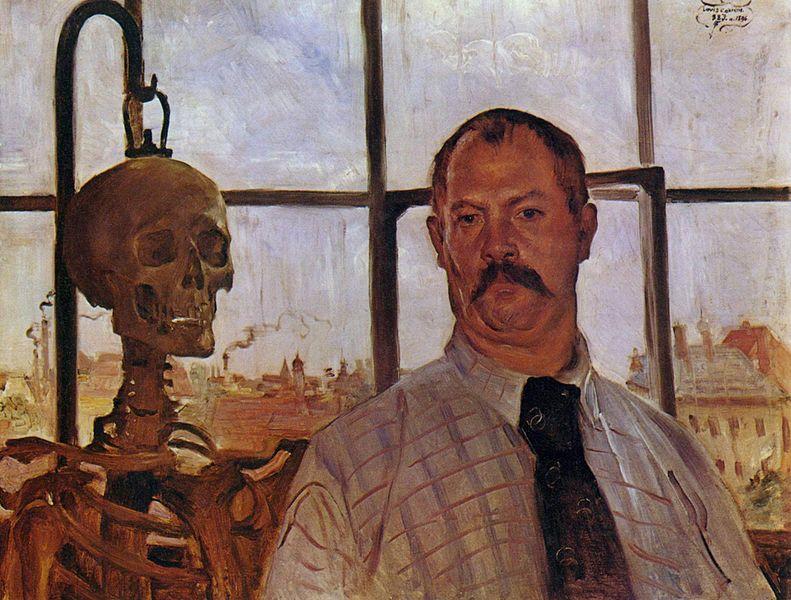 Selbstporträt mit Skelett | Lovis Corinth