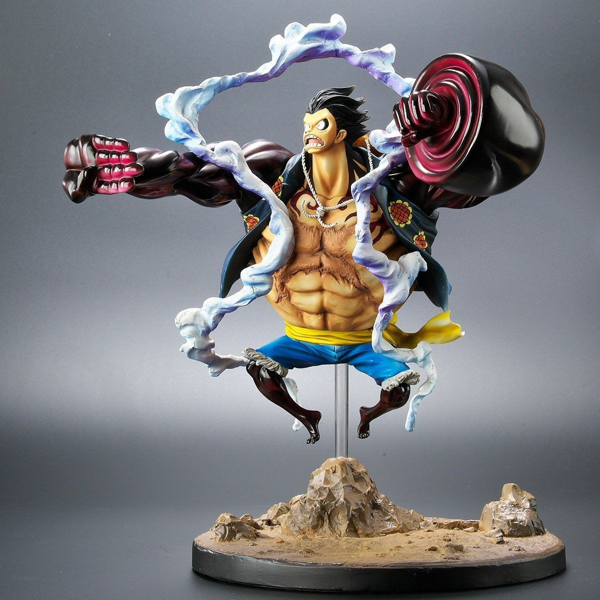 Figure one piece dxf pvc scultures sc gear fourth luffy 4th. Luffy - Archive Collection - Gear Fourth Kong Gun - Plex ...