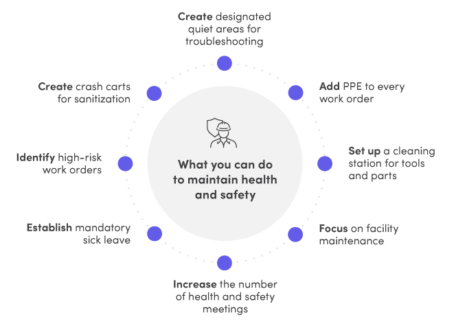 What you can do to maintain health and safety