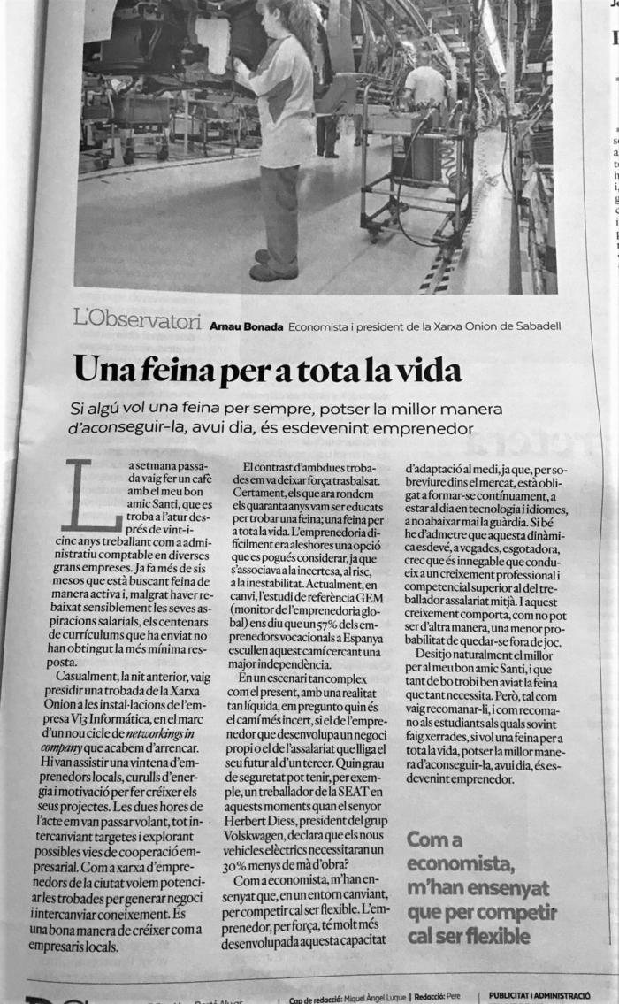 Feina i vida al Diari de Sabadell