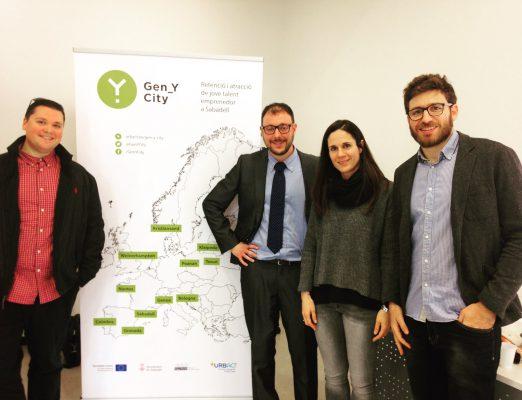 Sabadell Gen-Y City: Participem amb l'Ajuntament de Sabadell en el projecte Gen-Y-City per fer de Sabadell una ciutat més atractiva pels emprenedors. Febrer2017.