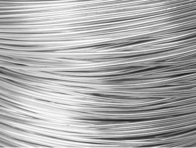 10 metres fil aluminium argent