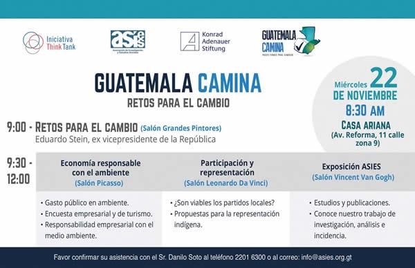 """Conferencia """"Guatemala Camina. Retos para el Cambio"""""""
