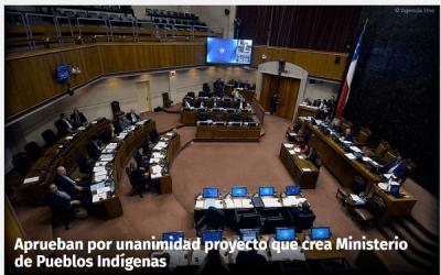 Aprueban Proyecto que crea Ministerio de Pueblos Indígenas en Chile