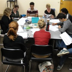 Choose Thine Own Adventure Cast at Rehearsal