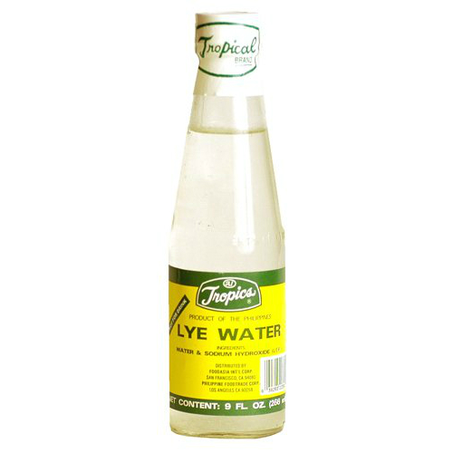 Bottle of Lye Water