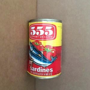 555 Sardines Tomato Sauce Hot