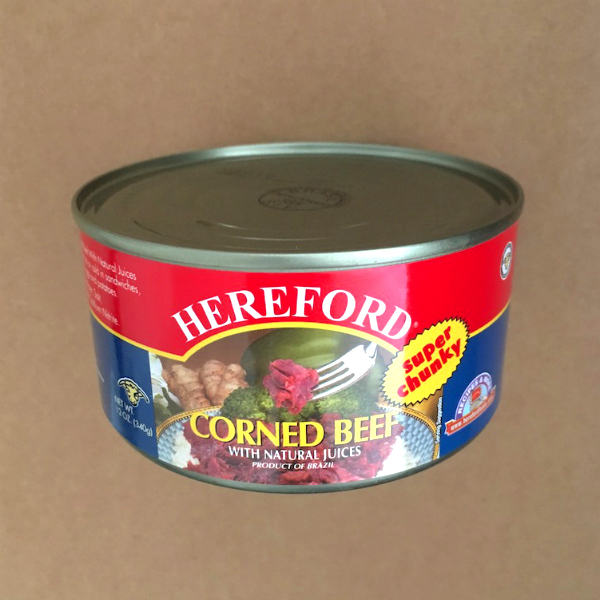 Hereford Corned Beef Round Can