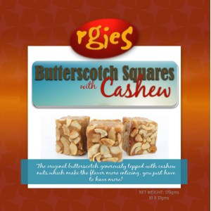 Rgies Butterscotch with Cashew Nuts