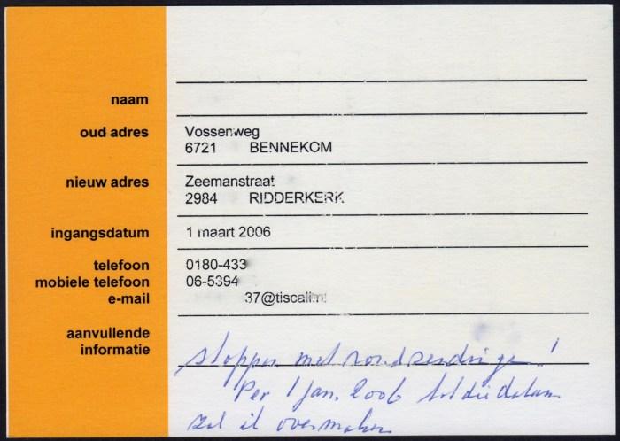 GV-67A verhuiskaart