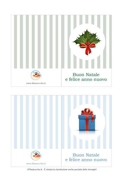 Stampa I Biglietti Di Auguri Per Natale Filastroccheit
