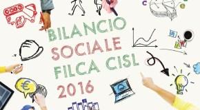E' ON LINE IL 'BILANCIO SOCIALE 2016' DELLA FILCA