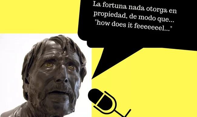 Ilustración a partir del busto de Séneca que se encuentra en el Museo Arqueológico Nacional de Nápoles, Italia. Obra de Massimo Finizio. Bajo licencia Creative Commons Attribution-Share Alike 2.0 Italy license.