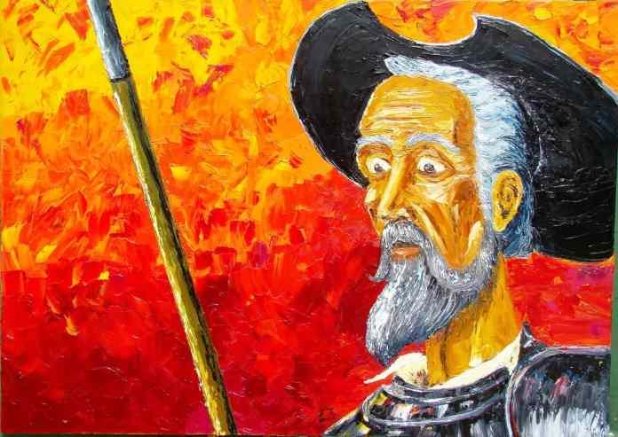 Don Quijote de La Mancha. Ilustración de Iván Erre Jota bajo licencia CC BY-SA 2.0. Flickr.