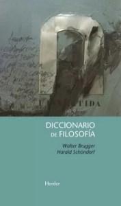 """""""Diccionario de filosofía"""" de Walter Brugger (696 páginas), publicado por Herder."""