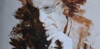 """Retrato de Javier Sádaba en la portada de """"Memorias desvergonzadas"""", publicadas por Almuzara."""