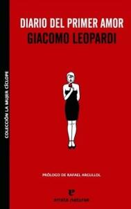 """""""Diario del primer amor"""", de Giacomo Leopardi, editado por Errata Naturae."""