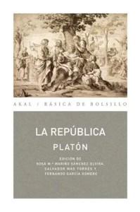 """""""La república"""", de Platón, en edición de Akal."""
