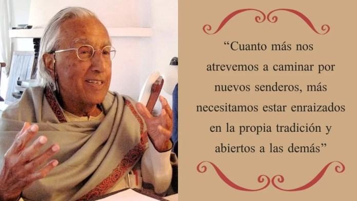 El filósofo y teólogo catalán Raimon Pannikar nació el 3 de noviembre de 1918 y murió el 26 de agosto de 2010.