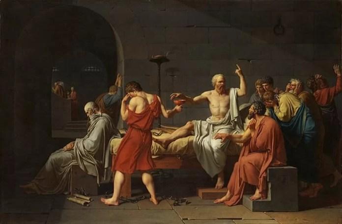 «La muerte de Sócrates», de Jacques-Louis David (1787), Museo de Arte Metropolitano de Nueva York / Dominio público.