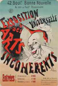 Jules Chéret, (1836-1933), Cartel para Exposition Universelle des Arts Incohérents, 1889.