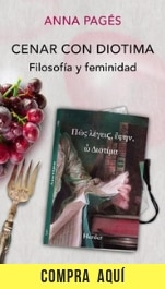 """""""Cenar con Diotima. Filosofía y feminidad"""", de Anna Pagès, publicado por Herder."""