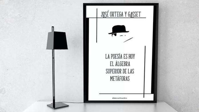 El filósofo y ensayista español José Ortega y Gasset nació en 1883 y murió en 1955. En la imagen, lámina de Filosofers.